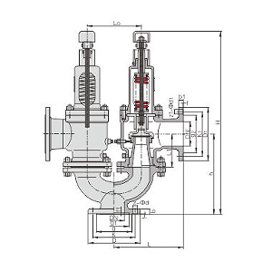 Twin spring loaded lift type safety valve(A37H)